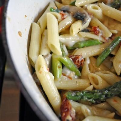 Asparagus/Brie Pasta