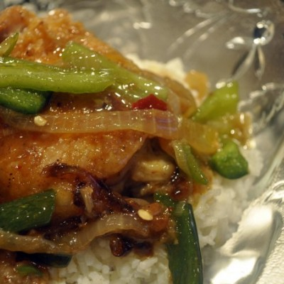 Spicy Chicken with Chilis