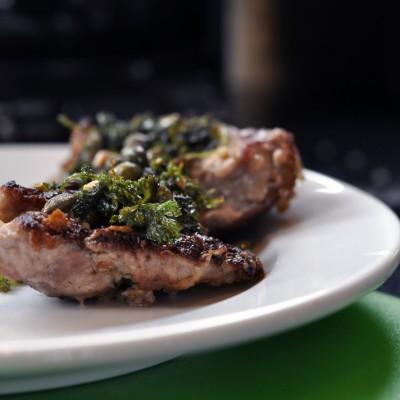 Pork Scallopine w/Caper Sauce
