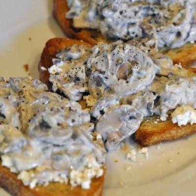 Mushroom/Goat Cheese Toast