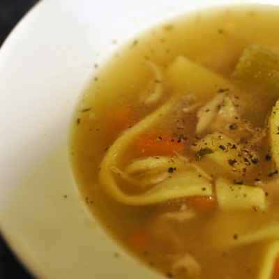 Pressure Cooker Turkey Soup w Homemade Noodles