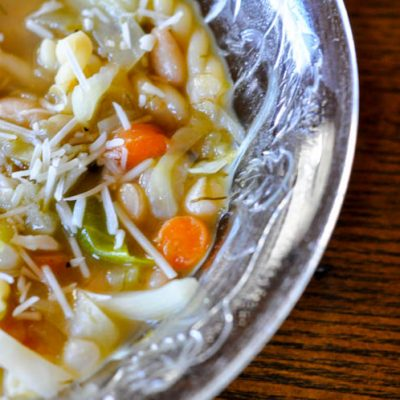Vegetable White Bean Soup in the Instapot