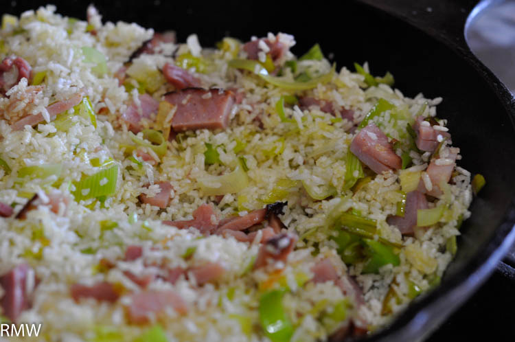 Leek fried rice the rocky mountain woman this fried rice is so fast and easy it pretty much makes itself that leaves you time to kick off your shoes and pour a glass of wine ccuart Choice Image