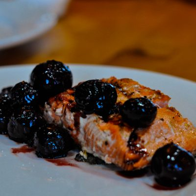Salmon with Cherries
