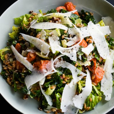 Farro and Roast carrot salad