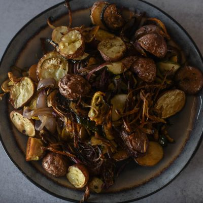 Roasted Red Potatoes with Vegetables