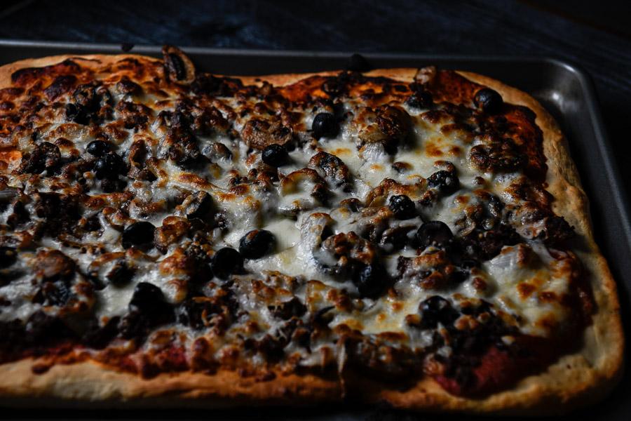 Elk Sausage Pizza